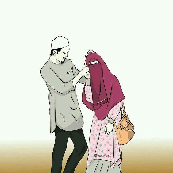 150 Gambar Kartun Muslimah Berkacamata Cantik Sedih Terlengkap Kartun Ilustrasi Karakter Gambar Pengantin