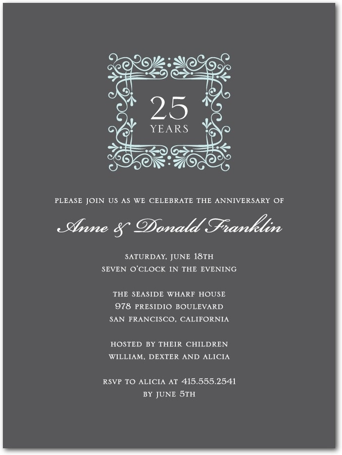 10 best 40th wedding anniversary invitations images on pinterest extraordinary elegance signature white anniversary party invitations in stopboris Images