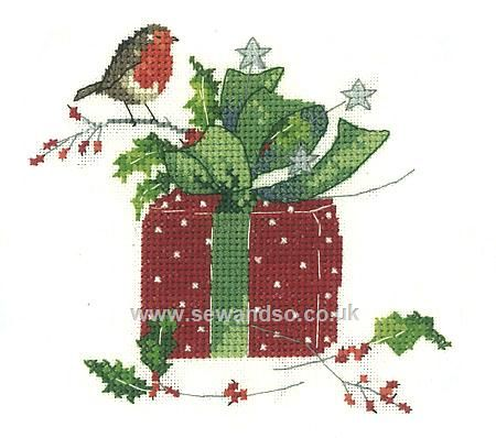 Buy Christmas Gift Cross Stitch Kit online at sewandso.co.uk