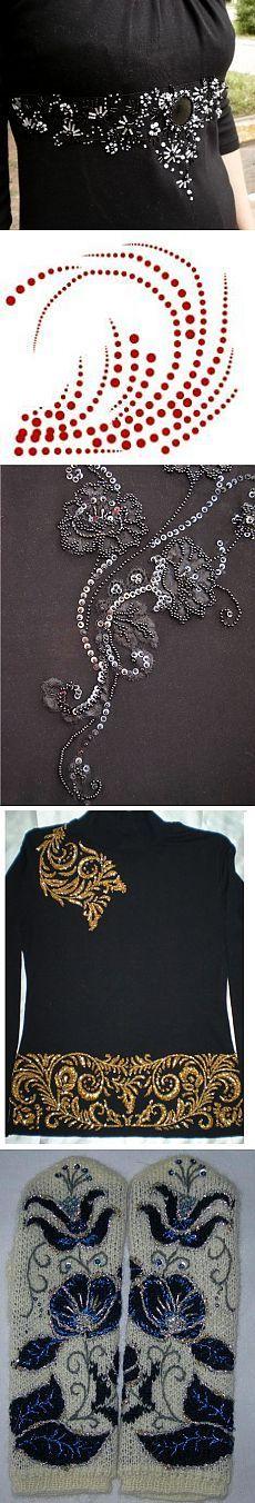 Вышивка бисером по трикотажу и советы от Бацилевой Светланы - Рукоделие