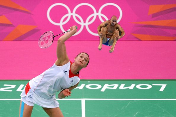 2. | 20 Photos Of Olympic Badminton Players Swatting Divers Like They're Flies