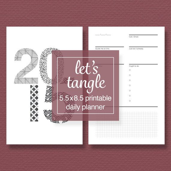 Tangle-a-Day Printable Perpetual Planner Pack by sassyplanners