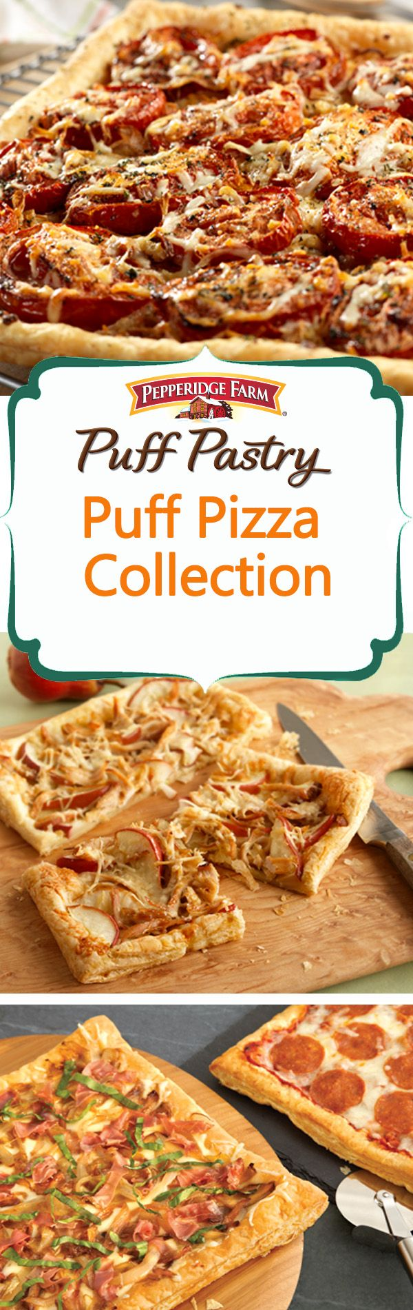 Puff Pastry Pizza Recipe Collection. If you haven't made pizza with Puff Pastry yet, you have to try it! Need a little inspiration? Check out this list of our 25 favorite pizza recipes - all layered on a flaky Puff Pastry crust. With toppings like roasted tomato and onion, and sopressata and lemony arugula; you'll want to open a pizza parlor from your kitchen.