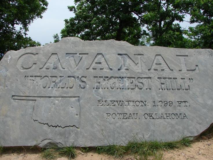 Cavanal Hill, world's tallest hill - Poteau, Oklahoma | My ...
