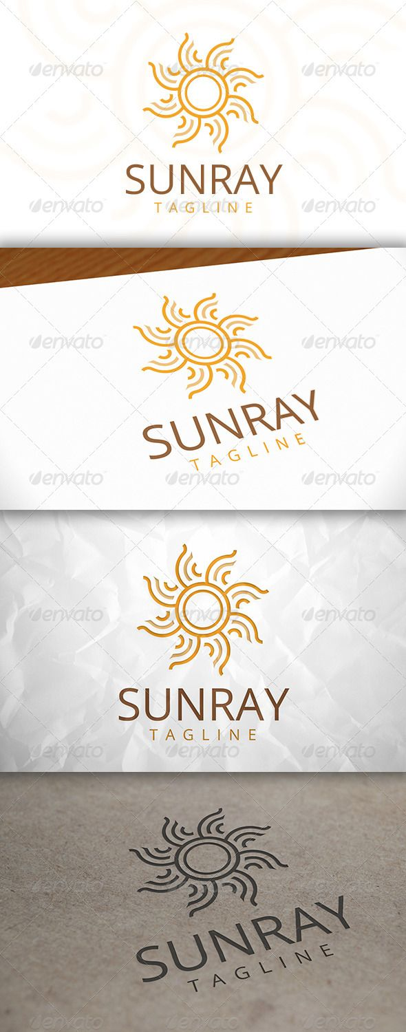 Sun Ray Logo Template — Vector EPS #energy #sunrise • Available here → https://graphicriver.net/item/sun-ray-logo-template/8083087?ref=pxcr