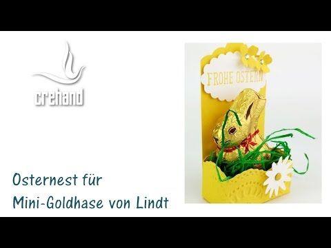 Osternest für Mini-Goldhase von Lindt – Videoanleitung | crehand – stamp it!