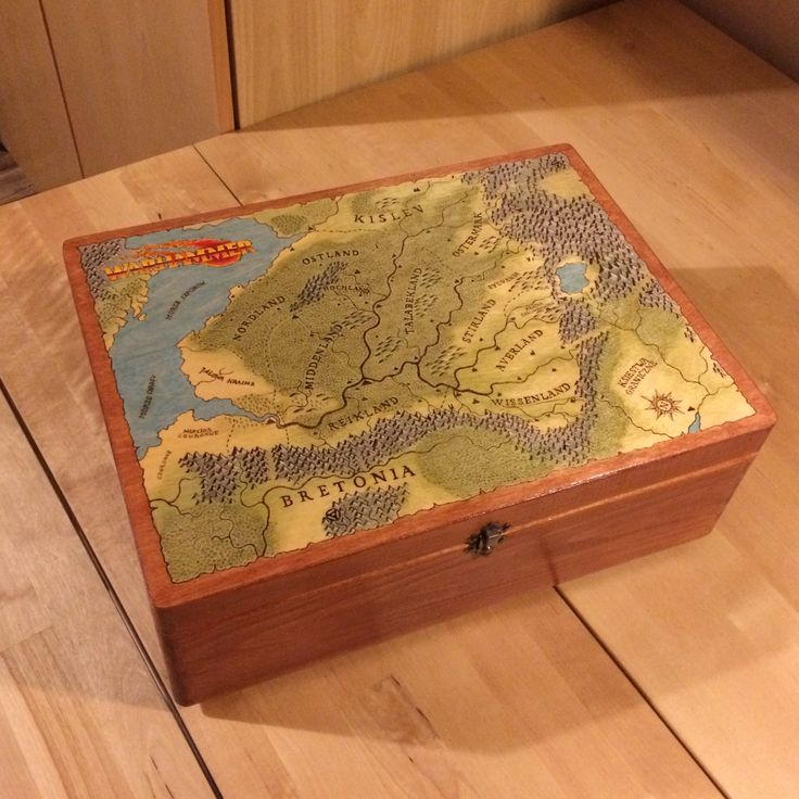 Wood box for the gamemaster.  RPG warhammer #handcraft #handicraft #wood #box #warhammer #rpg #fcrafts