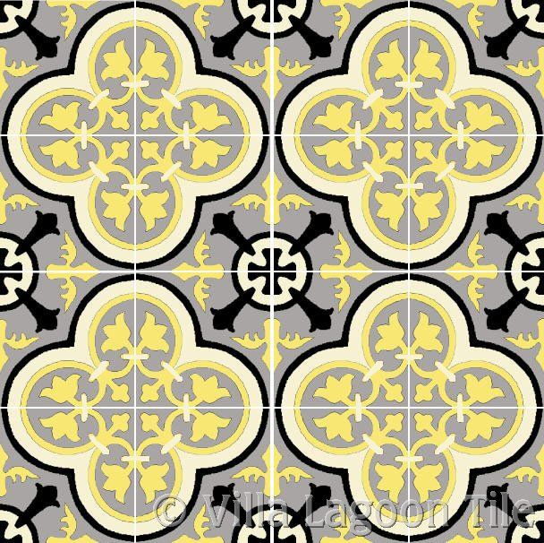 Villa Lagoon Tiles Roseton Cement Tile Available In