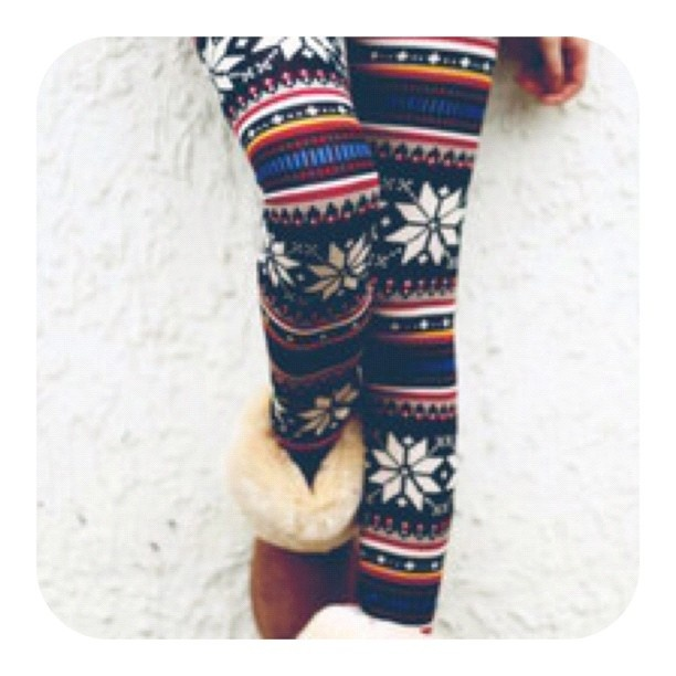 Winter leggings- diff. colours and patterns.
