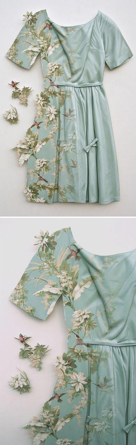 ron isaacs - silk party dress...material: wood