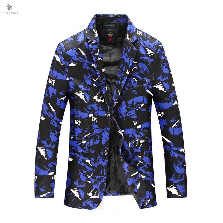 ZEESHANT  Brand New Blazer Men Casual Blazer Cotton Parka Men's Slim Fit Jackets Army Green Camouflage Plus Size L-8XL Homme #Affiliate