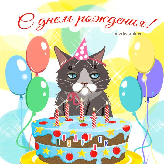 Прикольные картинки с днем рождения гиф