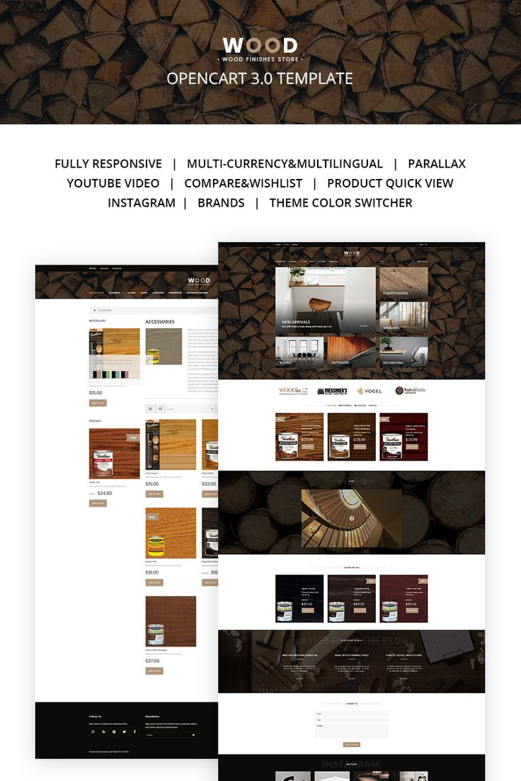 Wood Finishes OpenCart Template