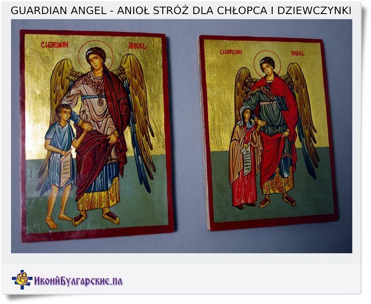 Guardian Angel Anioł stróż ikona na prezent
