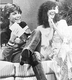 Andy Gibb and Victoria Principal on the John Davidson Show the first night the met, January 6, 1981.