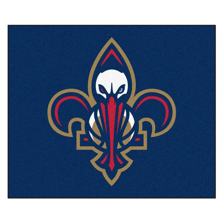 New Orleans Pelicans Blue Tufted Area Rug