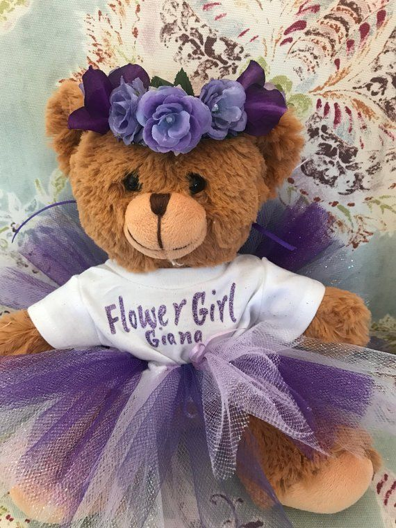caa8be8b2f0 Flower Girl Personalized Teddy Bear - Flower Girl Gift