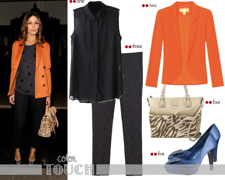 Get the look - Olivia Palermo: Olivia Palermo loves color touch | http://getthelookoliviapalermo.blogspot.com.es/