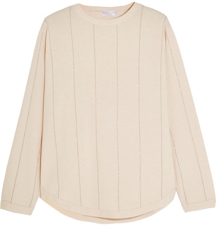 Brunello Cucinelli Bead-Embellished Cashmere Sweater