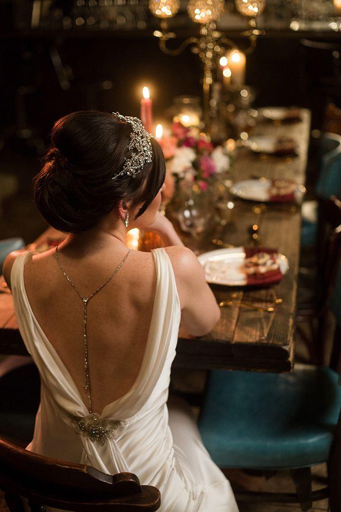 vintage speakeasy wedding inspiration | Matt Bigelow Photography | Glamour & Grace