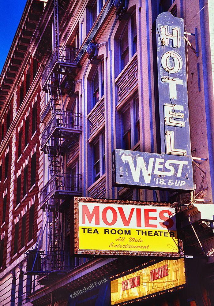 Hotel West In The Tenderloin Circa 1998,  San Francisco By Mitchell Funk mitchellfunk.com