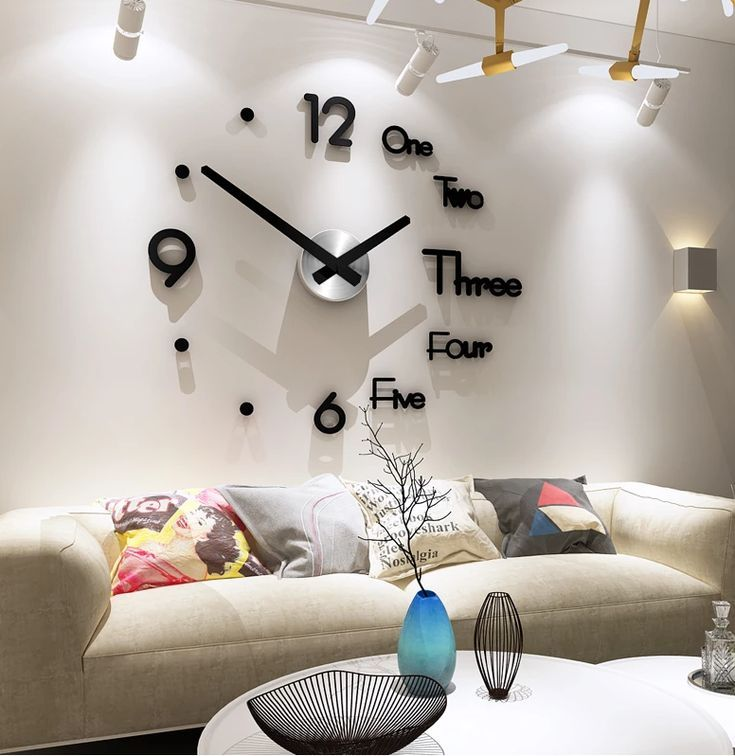 Diy Large 3d Wall Clock In 2020 Diy Clock Wall Big Wall Clocks Large Wall Clock
