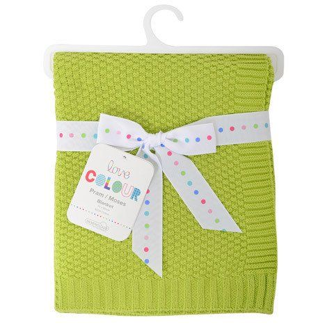 Silvercloud Cotton Baby Blanket Lime – White Rose Baby Boutique