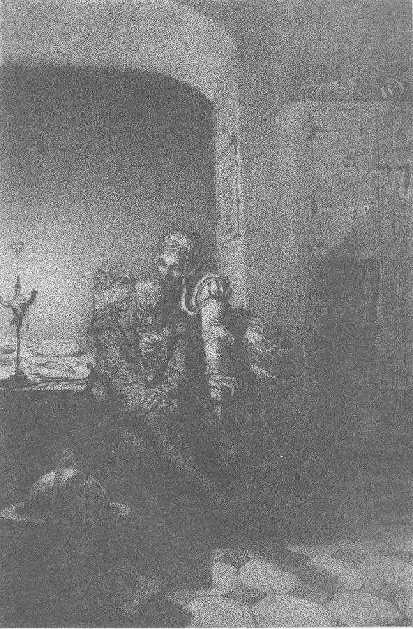 Illusztráció Madách Imre Az ember tragédiája című művéhez: Prágában (8. szín)  1887