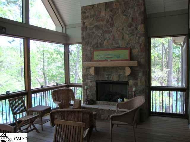 Screened Porch With Fireplace New Lakehouse Lake Keowee Sc Pinter