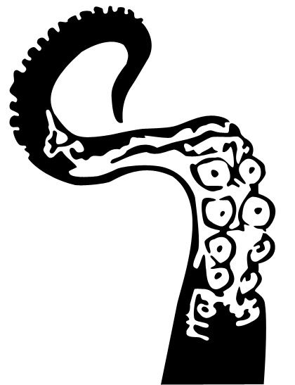 Octopus tentacle stencil template templates