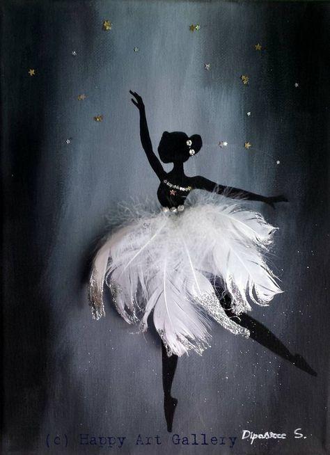 Schwan Ballerina Geschenk für Kinderzimmer Kinderzimmer