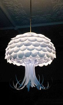 paper lamp shade. i like this design because it looks like a tree and i also like the way it has been layered as it gives the shade more characteristics and also gives it more of a fun appeal.