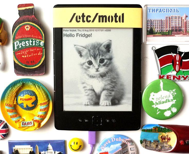 Share Messages via Kindle on Fridge