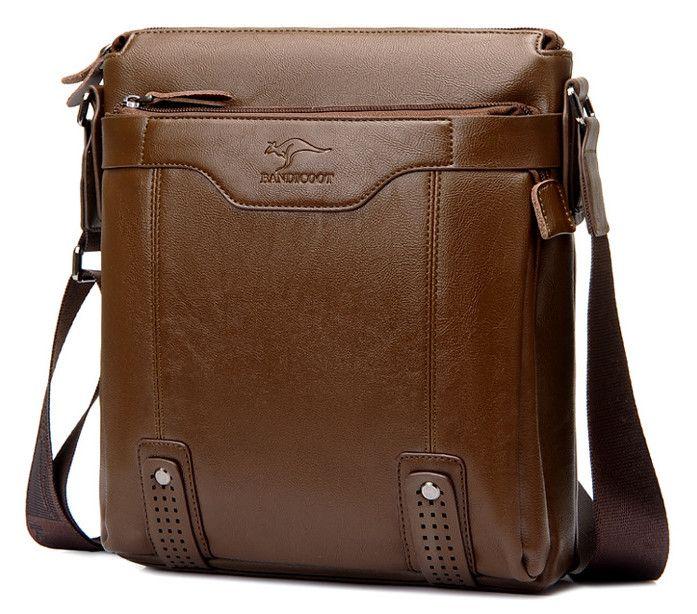 Fashion Vertical style Leather Men's Messenger Bags Man Office Bag Quality Travel Shoulder Zipper Style waterproof handbags