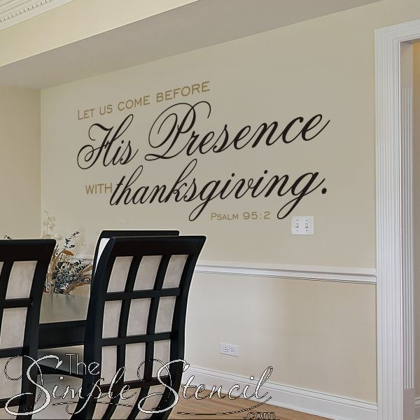 Best Thanksgiving Decals Quotes Stencils Images On Pinterest - Dining room vinyl wall quotes