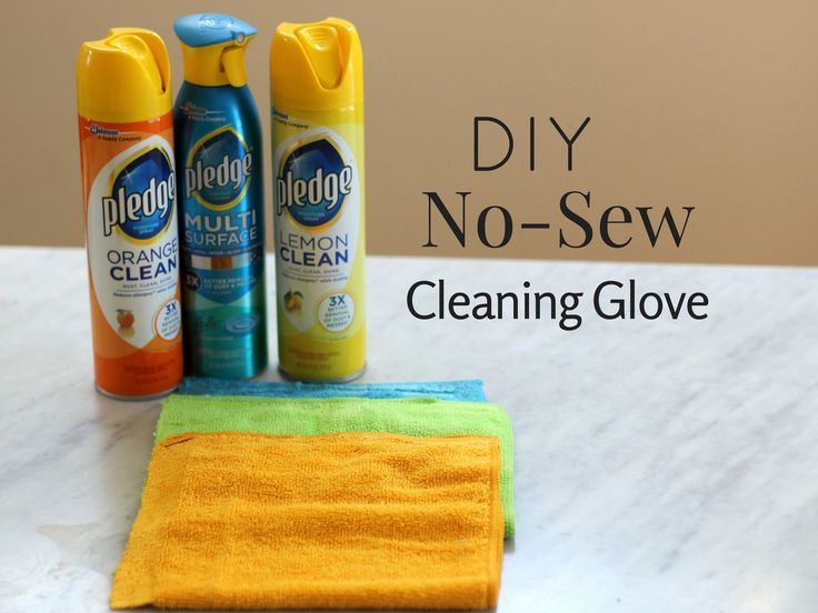 DIY No-Sew Cleaning Glove #PledgeReflectionOfYou #CollectiveBias #ad