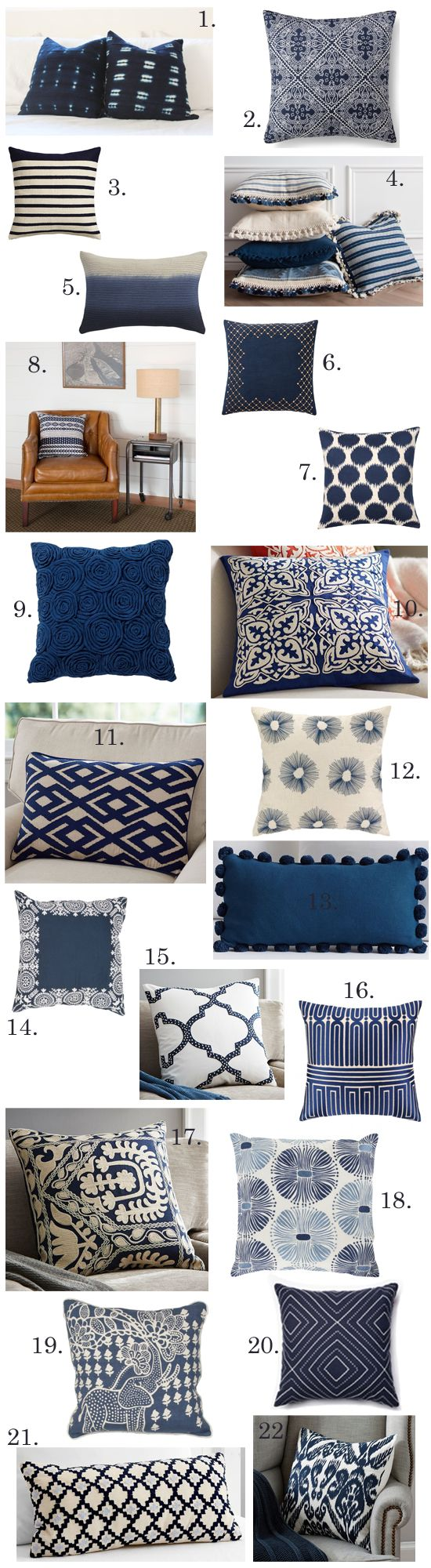 Building A Dream House Navy Throw Pillows