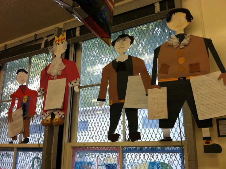 Hanger People Biography.  A great way to get the students researching and doing art all at the same time