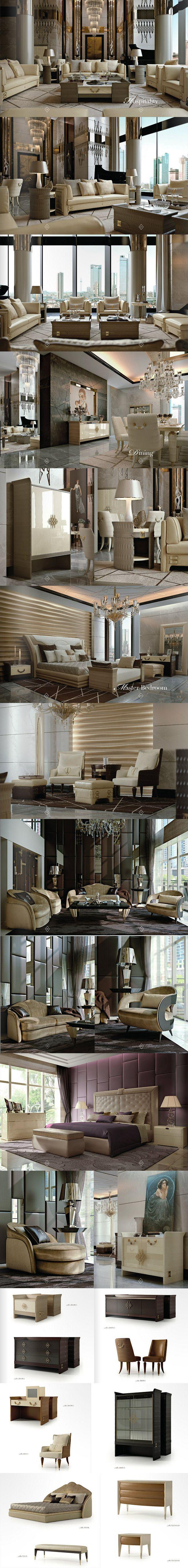 272意大利时尚奢华后现代风格家具场景图...
