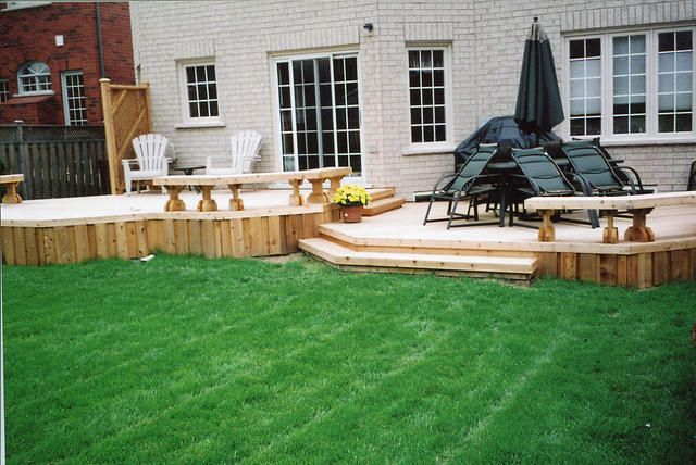 17 best images about decks and patios on pinterest patio for Split level patio