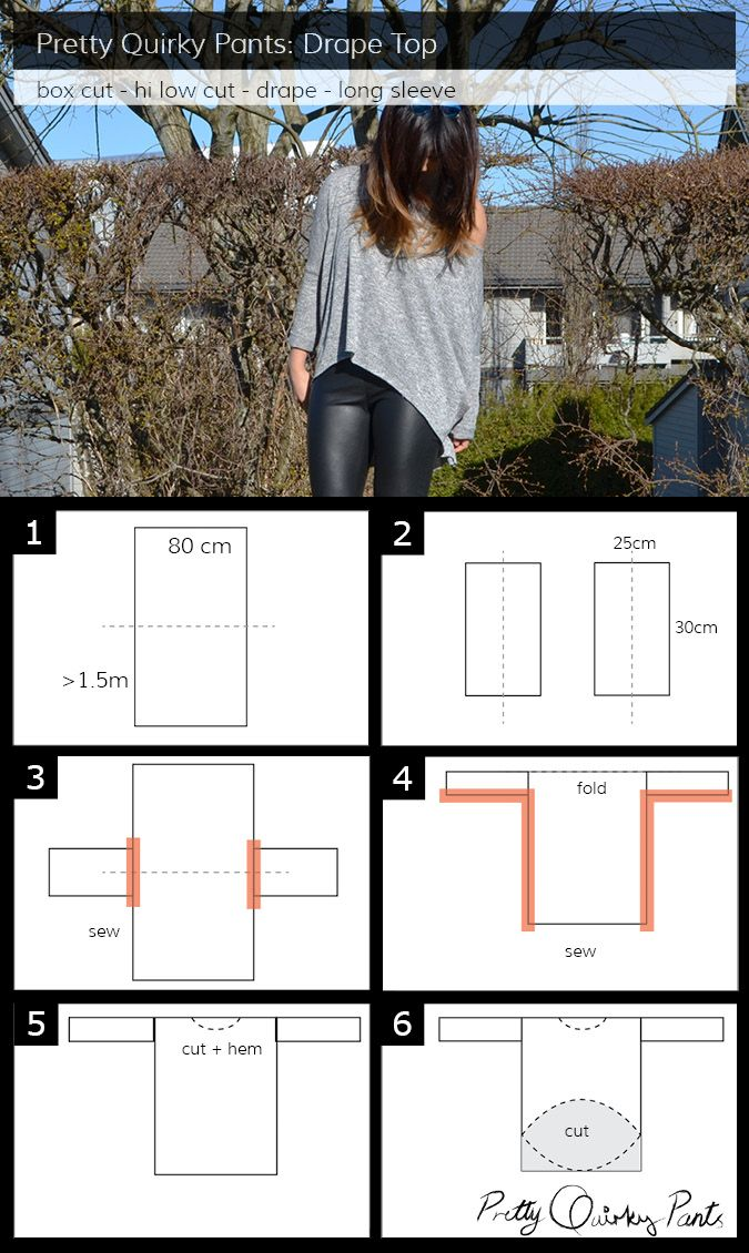 Instruction Layout - diy drape top