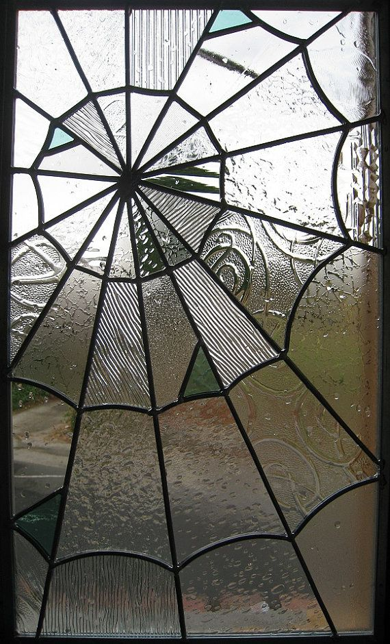 spider web looking stained glass! Someday i'm gonna make stained glass for my doors and windows and it's going to look something like this!