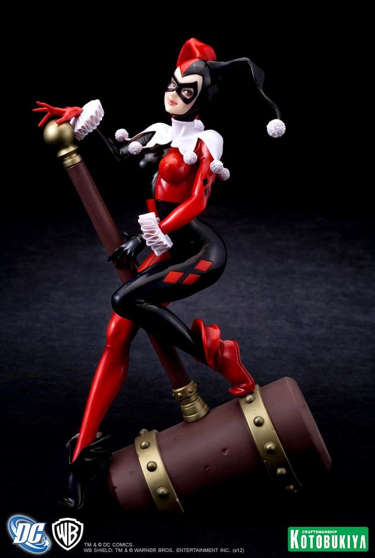 See This Beautiful Harley Quinn Bishoujo Statue From Kotobukiya And Dc!  Click For, See Photos And Purchase This Figurine For Your Collection!