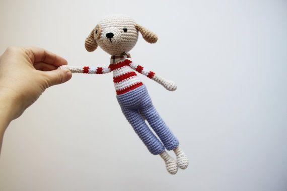 Uncinetto cane giocattolo  Amigurumi cane  di daydreamsbymeri, $32.00