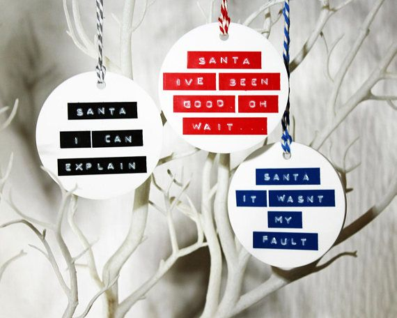 Humorous Message To Santa Hanging Decoration Funny Festive