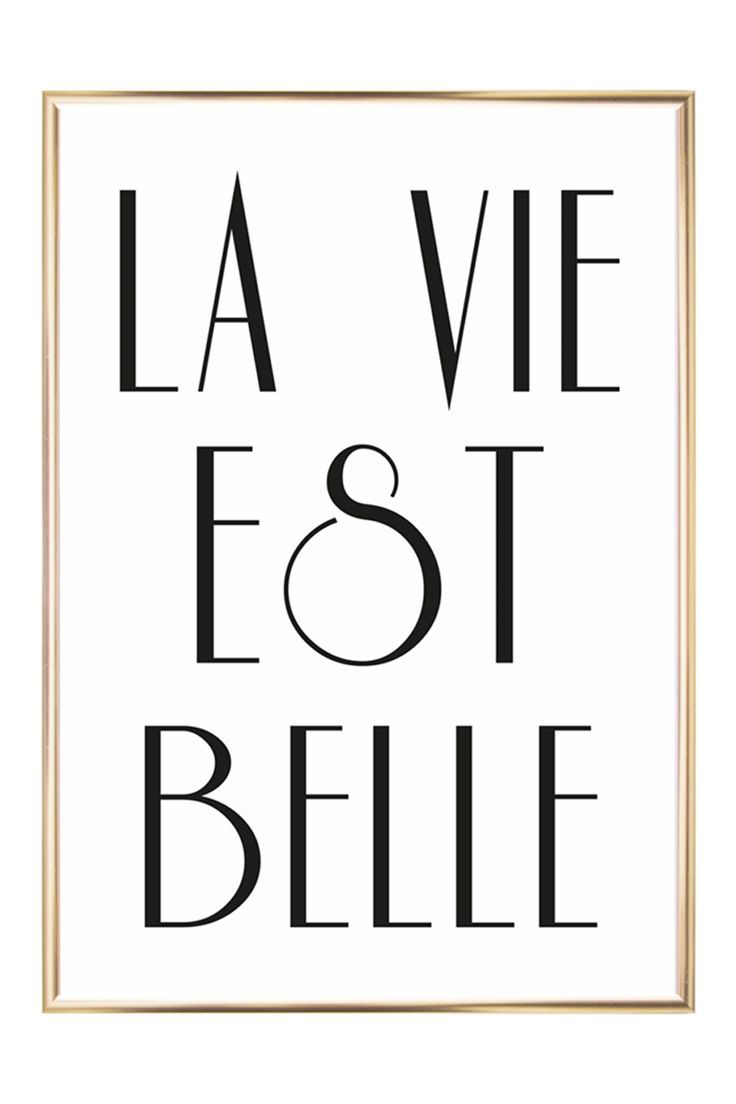 Gerahmter Digitaldruck La Vie Est Belle Beste Dekor Ideen La Vie Est Belle Letter Wall Art Lettering
