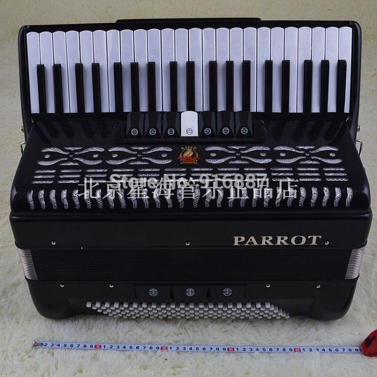 (970.00$)  Watch more here  - Free Shipping Accordion, Parrot 120 Bass 41 Keys Accordion, 120BS 41 Keys 3 Rows Reed Accordion, Parrot Accordion