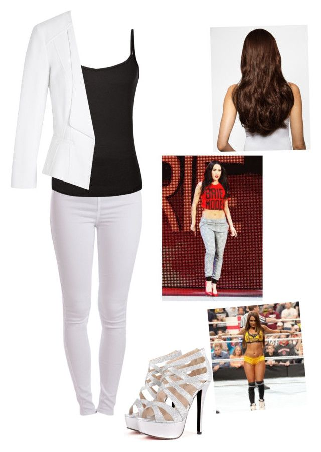 Going down to the ring with Brie to support Nikki by wannabebeckylynch on Polyvore featuring White House Black Market, Pieces, Hershesons and WWE