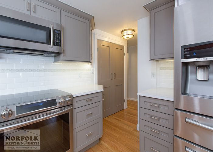 Door Style: Bradford | Species: Maple | Finish: Light Greige Designed By  Norfolk