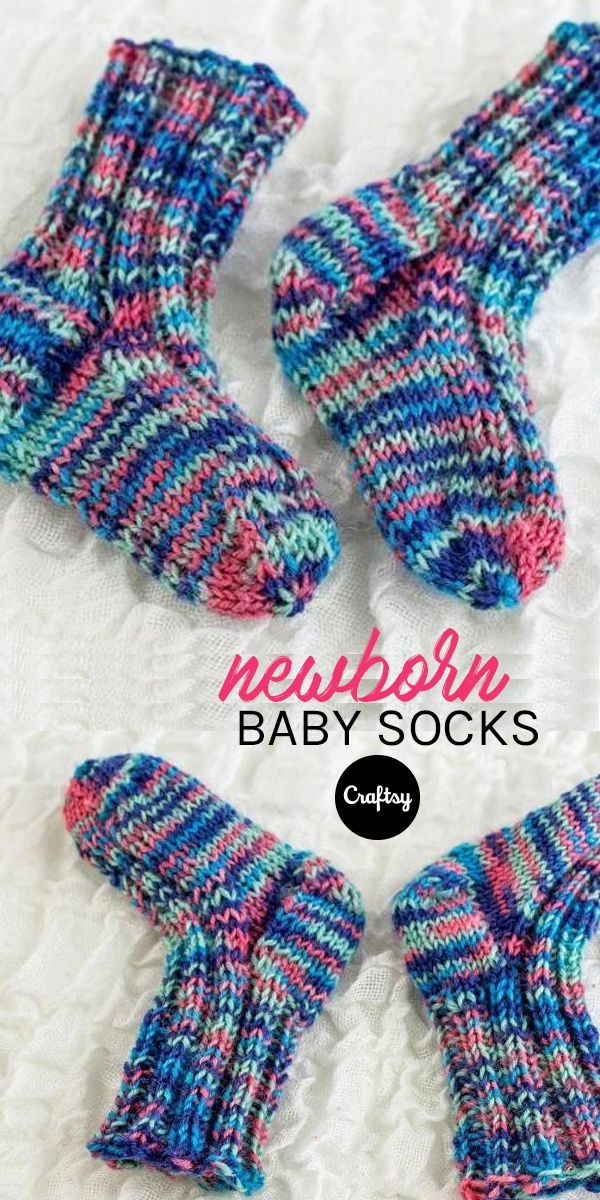 These colorful socks are a perfect, handmade baby-shower gift. Get the free knitting pattern at Craftsy!